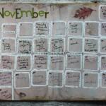 November Art Calendar complete