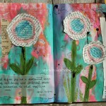 Bright blooms journal page