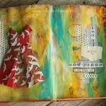 Origami dress journal page