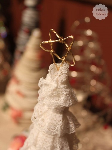 handmade star for lace wrapped tree| Halle's Hobbies