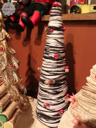 yarn wrapped tree| Halle's Hobbies