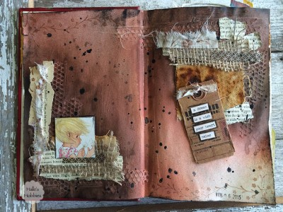 wishes and dreams art journal page | Halle's Hobbies