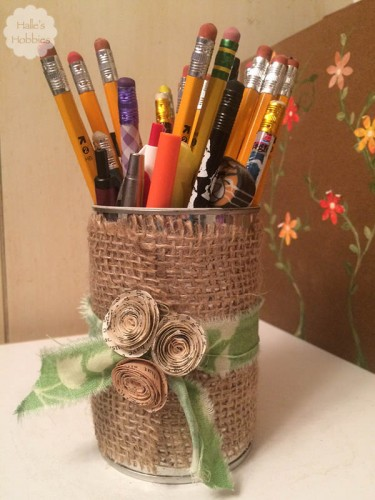 upcycled can project | Halle's Hobbies