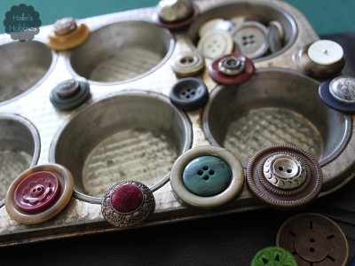 vintage button stacks | Halle's Hobbies