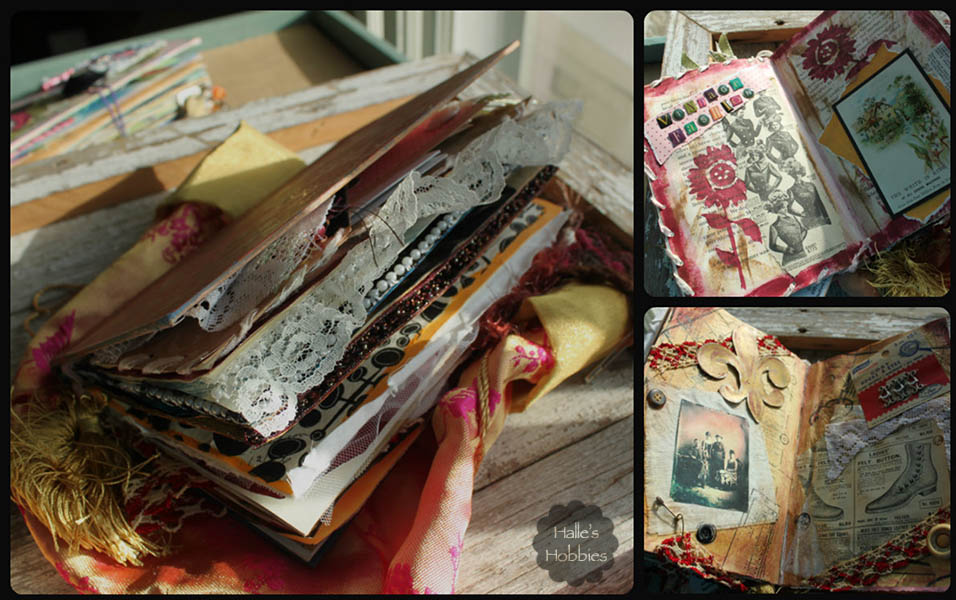 vintage fashion altered book | Halle's Hobbies