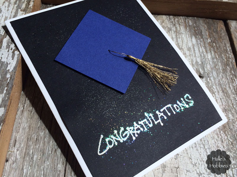 grad card with a tip