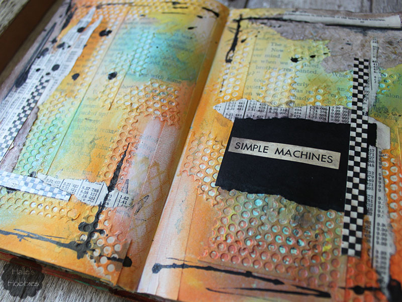 simple machines textural journal page