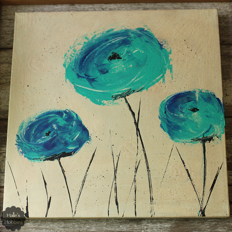 Artistic license blue green poppies