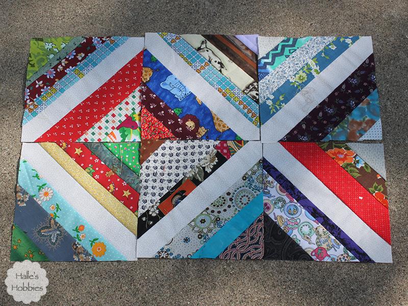 scrap quilt in progress
