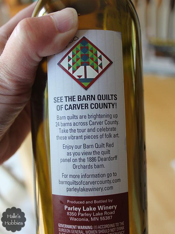 barn quilt wine