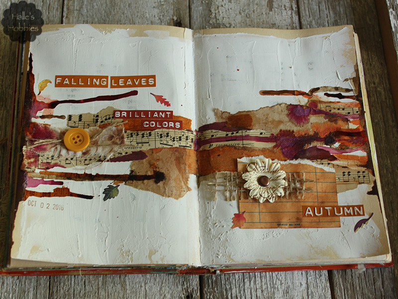 sounds like autumn art journal page