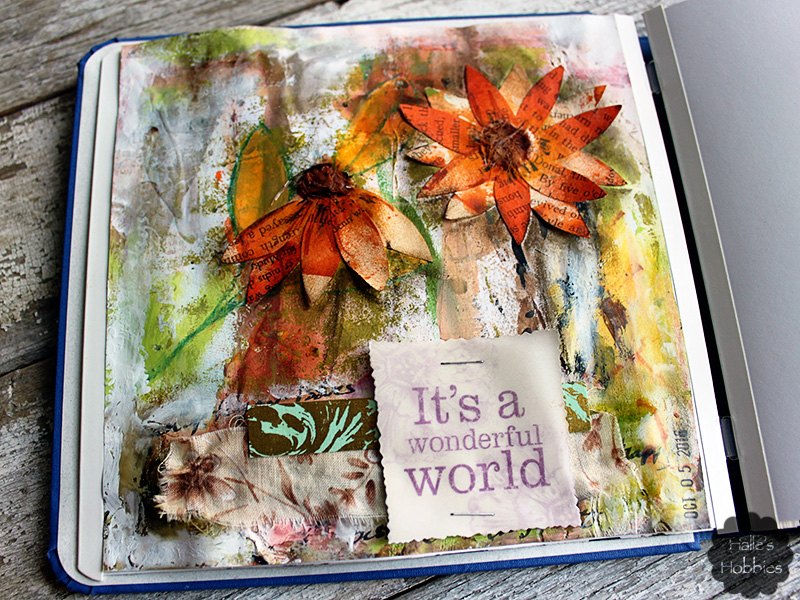 wonderful day art journal page