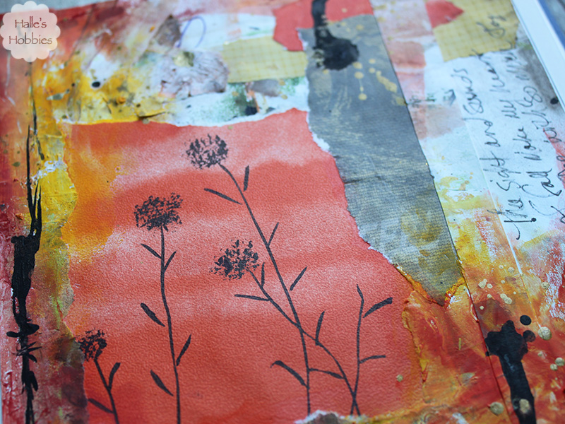 Sight and Sound of Fall art journal page