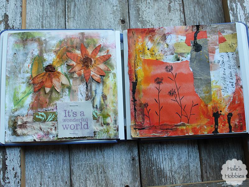 autumn art journal pages