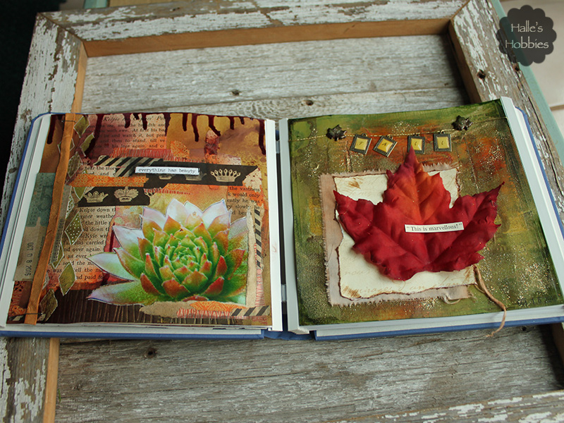fall is marvelous art journal page