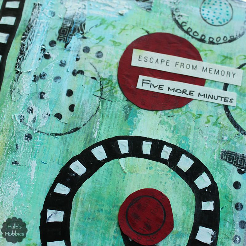 escape from memory art journal page