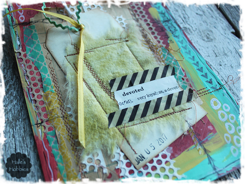 devoted art journal page