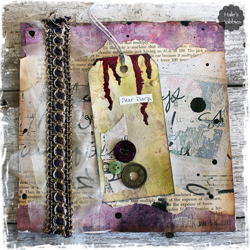 Dear Diary art journal page | Halle's Hobbies