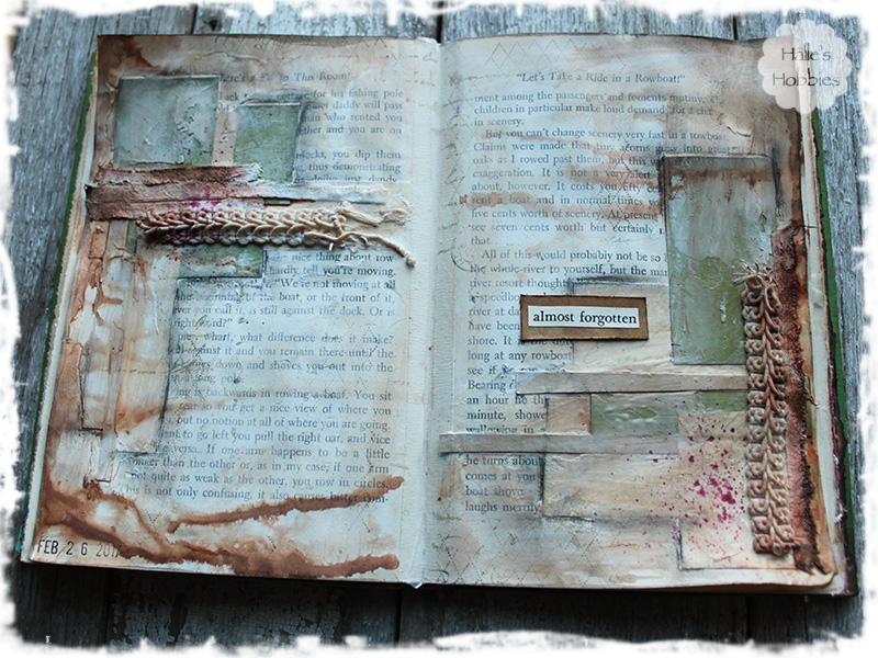 almost forgotten art journal page