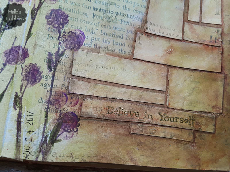 believe in yourself art journal page